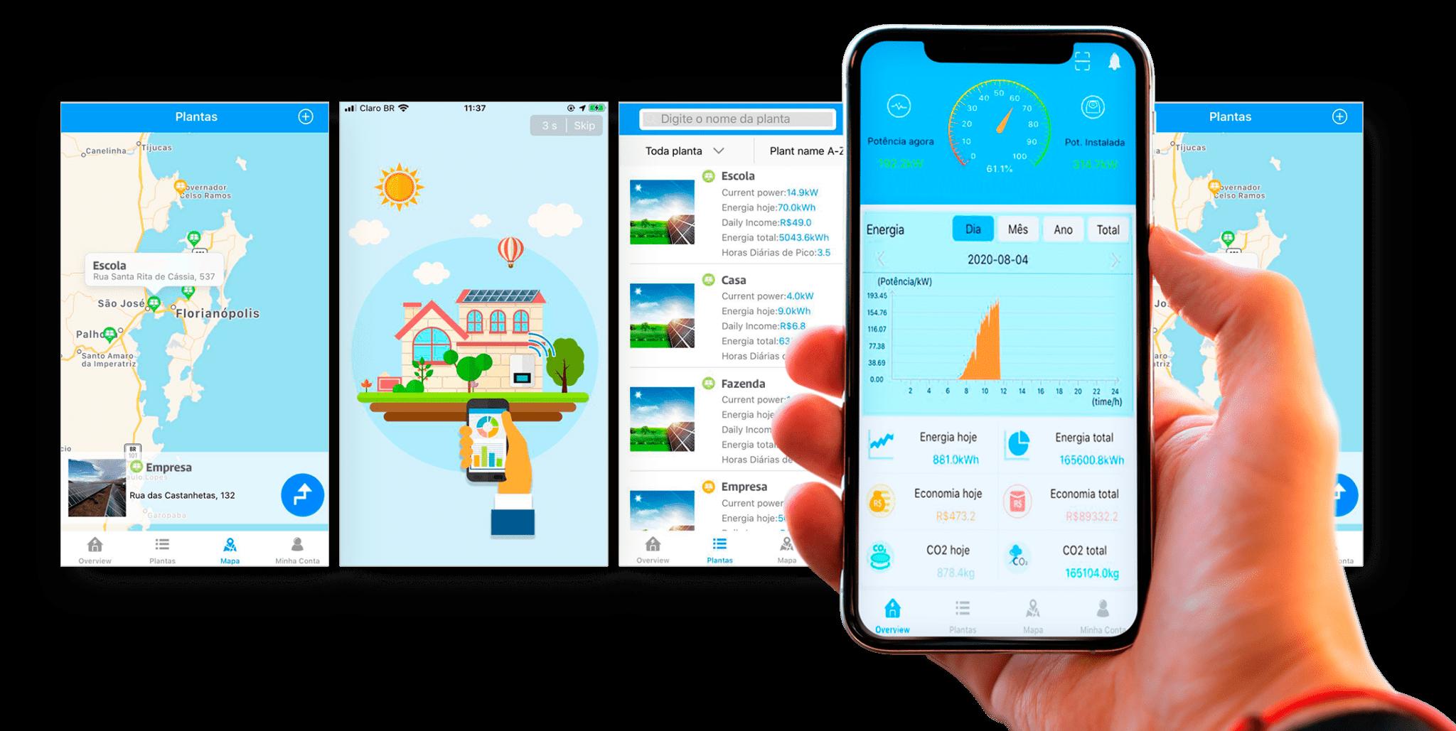 Monitore o desempenho das suas placas fotovoltaicas pelo celular